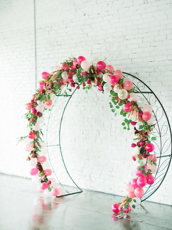 Floral Balloon Arch Wedding Amp Party Ideas 100 Layer Cake