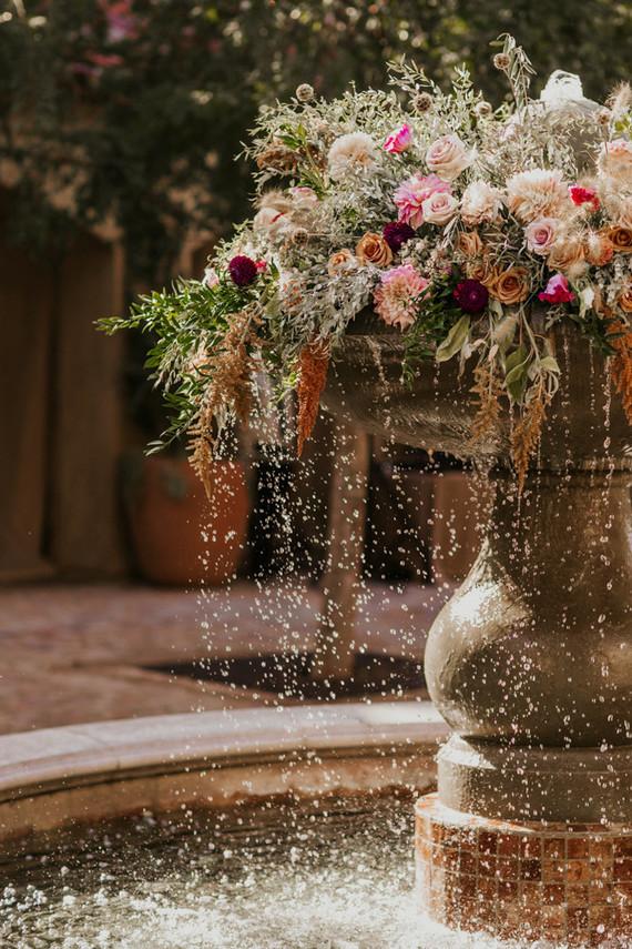 Floral Fountain Decor Wedding Party Ideas 100 Layer Cake