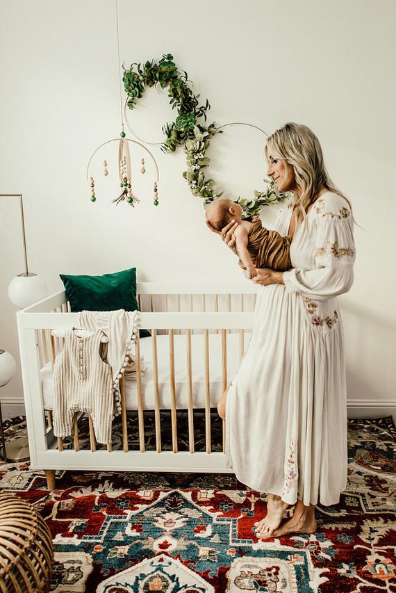 Gender Neutral Gold And Emerald Boho Nursery Wedding