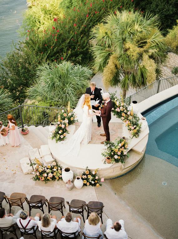 Intimate late summer backyard wedding in Austin | Wedding ...