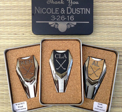 Real Weddings And Wedding Inspiration Ideas Personalized Groomsmen Gift Golf Ball Marker Divot Tool Gift Box 100 Layer Cake