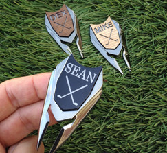 Real Weddings And Wedding Inspiration Ideas Groomsmen Gift Personalized Golf Ball Marker Divot Tool 100 Layer Cake