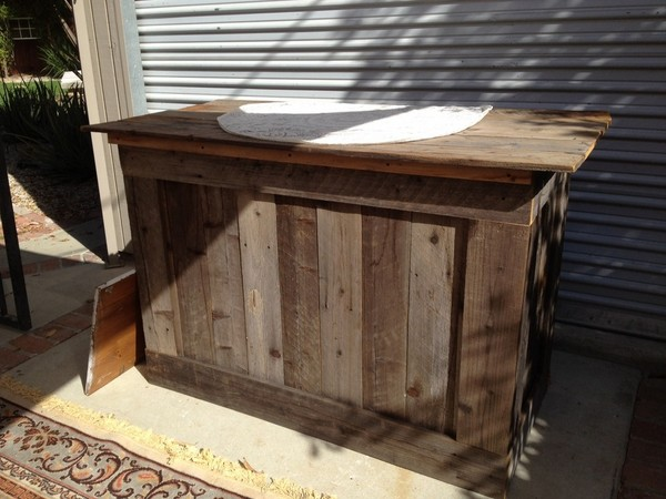 ... Ideas | Rustic Bar Made from Reclaimed Wood | 100 Layer Cake