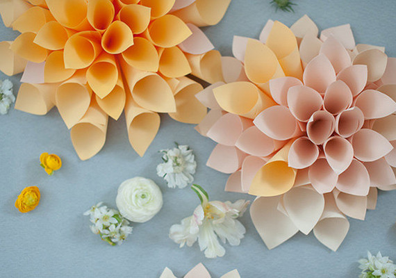Diy Dahlia Paper Flower Diy Projects 100 Layer Cake