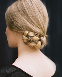 Tucked Braided Bun Hairstyle