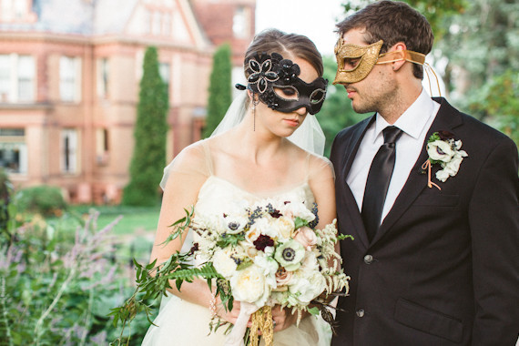 Halloween Masquerade Wedding Inspiration