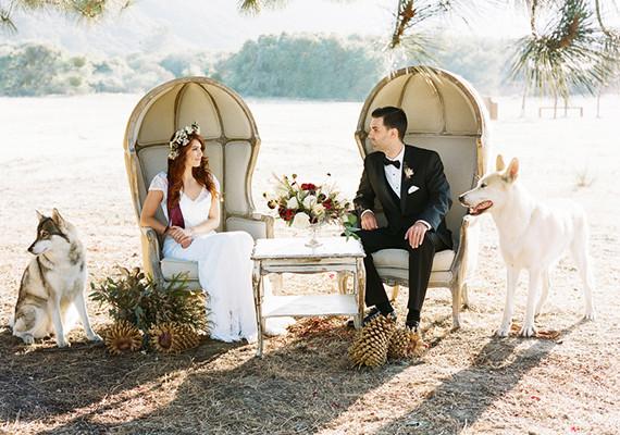 Real Weddings Winter: Rustic Winter Wedding Inspiration