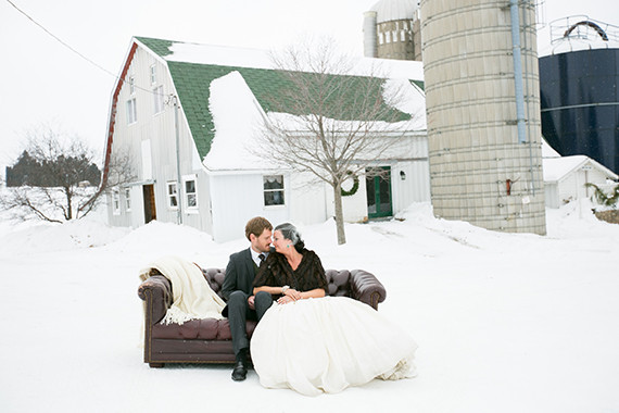 Snowy Winter Wedding Inspiration