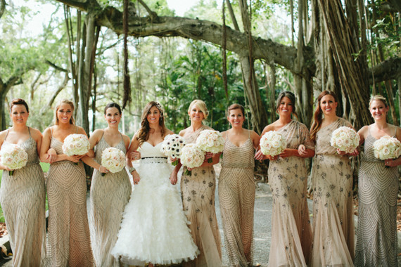 Real Bridesmaids In Our Stunning And Elegant Bridesmaid: Elegant Florida Art Museum Wedding